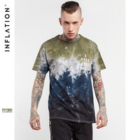 Summer Skateboard Tee Boy Skate Tshirt  Tie Dye Hiphop Men T shirts Fashion Casual Style