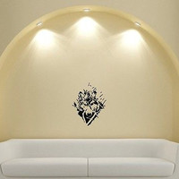 Wall Mural Vinyl Sticker Decal animal abstraction wolf canines DA1932