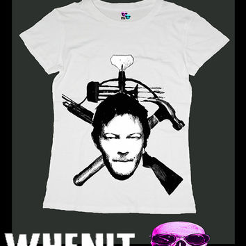 Daryl Dixon exclusive hand print women t shirt 20422