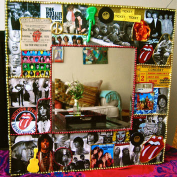 Rolling Stones Wall Mirror,rock and roll decor,CUSTOM MADE