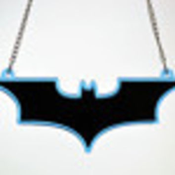 Batman The Dark Knight Rises Triple Stacked Pendant Necklace - Laser Cut Acrylic