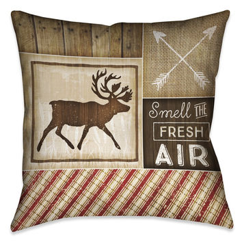 Country Cabin I Outdoor Decorative Pillow