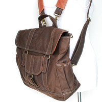 Christmas SALE 30% - Glen, Dark Brown - Waxed Canvas Camera Bag/ Dslr Bag / Camera Bag/ Camera Messenger Bag/ Women