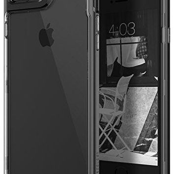 iPhone 7 Plus Case / iPhone 8 Plus Case, Caseology [Skyfall Series] Transparent Clear Slim Scratch Resistant Cover Drop Protection for Apple iPhone 7 Plus (2016) / iPhone 8 Plus (2017) - Matte Black