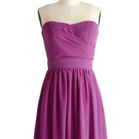 ModCloth Mid-length Strapless A-line Bring in the Bold Dress