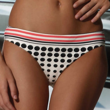 Oh So Chic Polka Dot Bikini - Final Sale - Cream Bottom