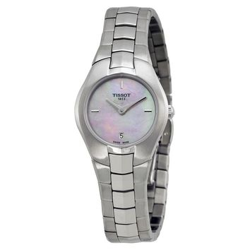 Tissot T-Round Pink Mother of Pearl Dial Ladies Watch T0960091115100