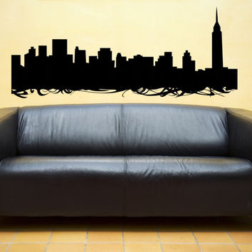 Nyc Skyline Vinyl Wall Decal Sticker