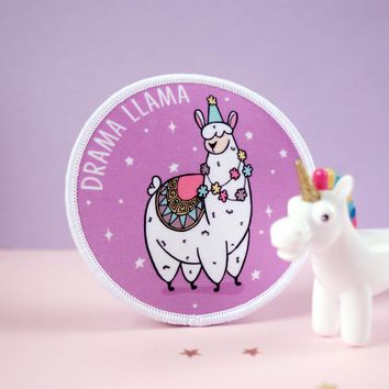 Drama Llama Iron On Patch