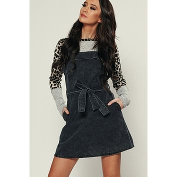 Holly Denim Dress (Charcoal)