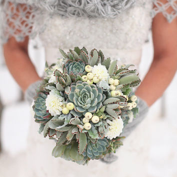 Succulent Wedding Bouquet, Rustic bouquet, Spring wedding bouquet, Winter Bouquet, Alternative Bouquet,Fall Bouquet