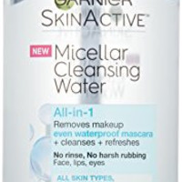 Garnier SkinActive Micellar Cleansing Water All-in-1 Cleanser & Waterproof Makeup Remover, 13.5 Fluid Ounce