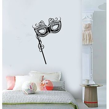 Vinyl Wall Decal Venice Carnival Party Face Mask Girl Room Stickers (3863ig)