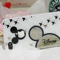 Disney Mickey Mouse Iphone 4 4s Protective Case Hot Sale Black and White