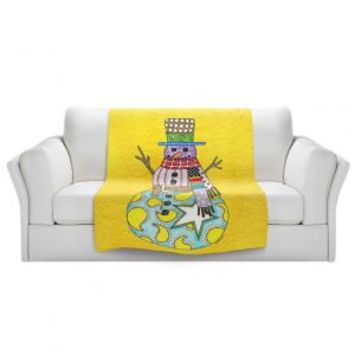 https://www.dianochedesigns.com/sherpa-pile-blankets-marley-ungaro-snowman-yellow.html