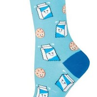 Cookies N'Milk - Novelty Crew - Women's Socks