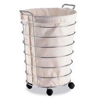 Organize It All 1761 Rolling Laundry Basket with Canvas Bag