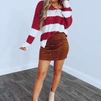 In Plain View Top: Maroon/White