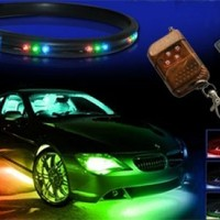 7-colors LED Undercar Neon Strip Underglow Underbody Under Car Body Glow Light Kit