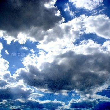 Clouds Outside My Window 16x24 Photography Print Blue by thebqe
