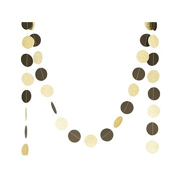 ... 550b0 06d69 Gold Glitter and Black Dots Party Bunting Banner los  angeles ... a1bdd7a13