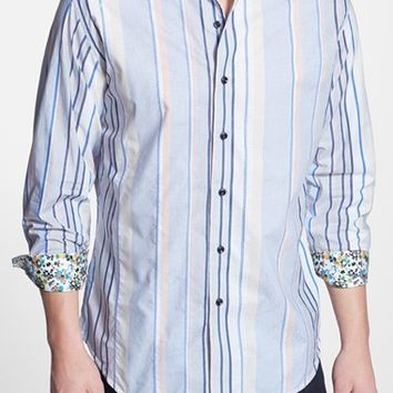 Men's Big & Tall Robert Graham 'Kipu Rocker' Classic Fit Stripe Sport Shirt,