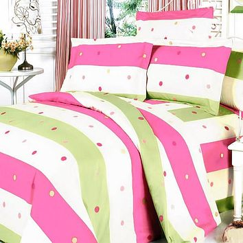 [Colorful Life] 100% Cotton 3PC Sheet Set (Twin Size)