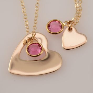Mother Daughter Gold Necklace Set