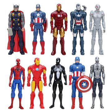 Marvel 30cm the Avengers super Hero Spider-man spider man thor iron man captain america PVC Action Figure Movable Model Toy