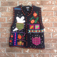 Vintage ugly Halloween sweater vest