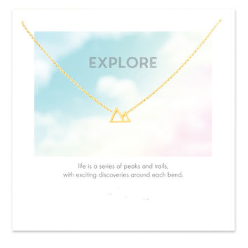 Sparkling Mountains Necklace Gold Dipped Pendant Necklace Clavicle Chain Statement Necklace Women Jewelry CX009