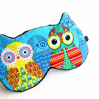 Owls Eye mask, Sleep mask, eye sleep mask, Kitty eye mask, Cat eye mask.