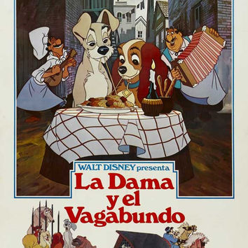 Lady and the Tramp (Spanish) 11x17 Movie Poster (1955)