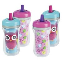 The First Years 4pk Insulated Straw Cup - Owls