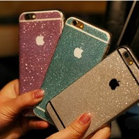 iPhone 6 Case, UnnFiko Beauty Luxury Hybrid Bling Glitter Soft TPU Gel Shiny Sparkling with Candy Back Plate Cover Case for Apple iPhone 6 (4.7 Inch) (Gray, iPhone 6)
