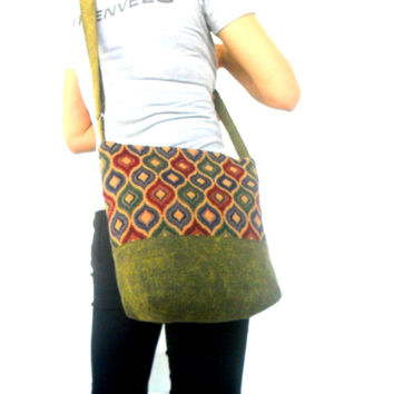 Crossbody Bag Hippie Bag Messenger Shoulder Bag Purse Handbag boho Hobo Bag Gift Thai Bag Handmade Everyday Bag Gift Bag Multi color Bag