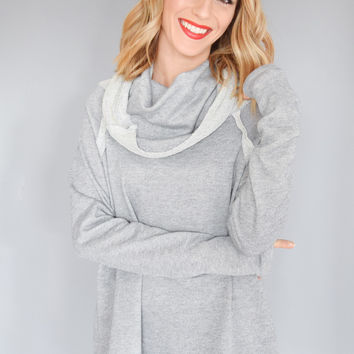 French Terry Cowl Neck Tunic