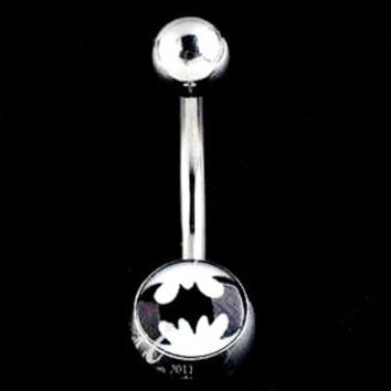 Batman Style Stainless Steel Belly Button Ring Navel Studs Body Piercing 5pcs Set = 1927974340
