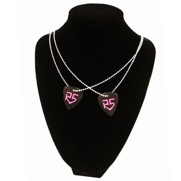 Pink Logo Pick Necklace | R5 Rocks