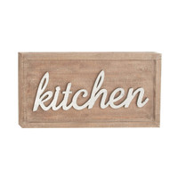 Kitchen Wood Metal Wall Sign Decor