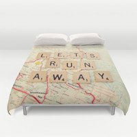 let's run away Duvet Cover by Shannonblue