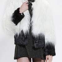 Staring At Stars Deville Faux Fur Jacket - Urban Outfitters