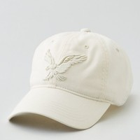 AEO Women's Applique Signature Baseball Cap (Chalk)