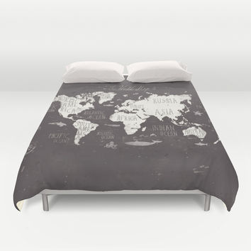Best world map duvet cover products on wanelo the world map duvet cover by mike koubou gumiabroncs Images
