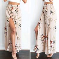 Floral Boho Maxi Trousers