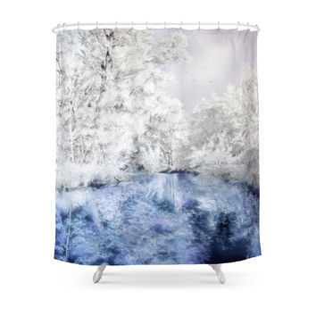 Society6 Frozen Beauty Shower Curtains