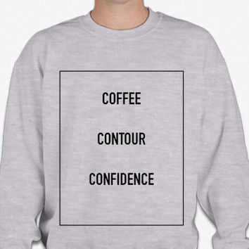 Coffee, Contour, Confidence Sweatshirt