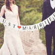 Just Married Vintage Wedding Bunting Banner Photo Booth Props Signs Garland Bridal Shower Wedding Decoration = 1932810052