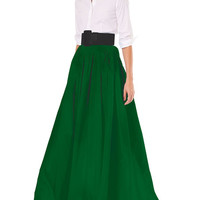 Carolina Herrera Finale Silk Ball Skirt w/ Train