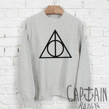 Deathly hallows sweatshirt harry potter unisex sweatshirts